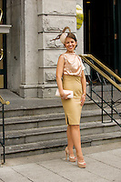 Patricia Carthy Dublin at Hotel Meyrick in Eyre Sq. Galway for their best dressed Lady Competition during Galway's Race week . Photo:Andrew Downes