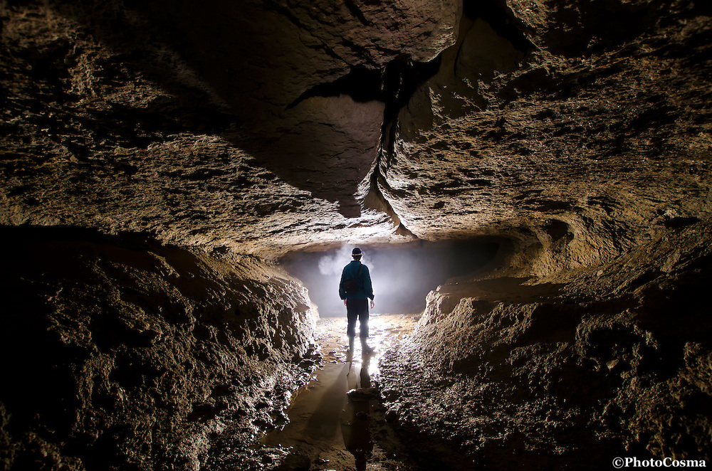 Underground cave photography with explorer
