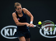 Barbora Strycova of the Czech Republic in action during her first round match at the 2020 Australian Open, WTA Grand Slam tennis tournament on January 20, 2020 at Melbourne Park in Melbourne, Australia - Photo Rob Prange / Spain ProSportsImages / DPPI / ProSportsImages / DPPI
