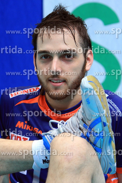Angel Perez at volleyball match of CEV Indesit Champions League Men 2008/2009 between Trentino Volley (ITA) and ACH Volley Bled (SLO), on November 4, 2008 in Palatrento, Italy. (Photo by Vid Ponikvar / Sportida)