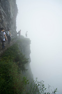 There was quite a bit of fog whne we got to the really exciting part of the Zhuilu Trail, but it was still exciting!