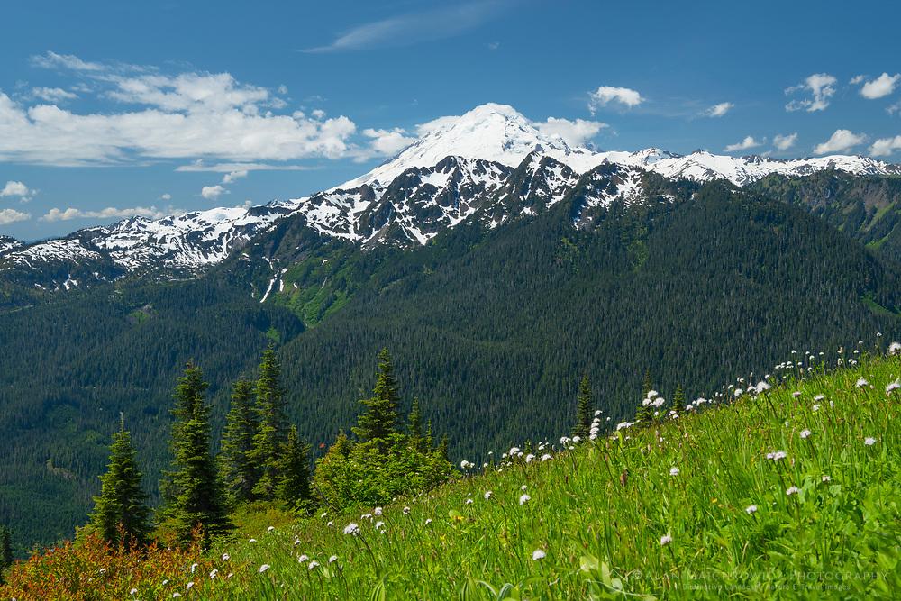 Mount Baker (elevation 10,778feet (3,285m). Seen from Goat Mountain, Mount Baker Wilderness Washington