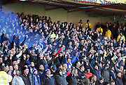 Birmingham fans celebrate their opening goal during the Sky Bet Championship match between Nottingham Forest and Birmingham City at the City Ground, Nottingham, England on 28 December 2014. Photo by Jodie Minter.