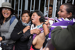 March 21, 2019 - La Paz, Bolívia - LA PAZ, LP - 21.03.2019: PROTEST IN LA PAZ IN BOLIVIA - Cancer patients protest in front of the Ministry of Health in the city of Laz Paz, Bolivia. (Credit Image: © Gaston Brito/Fotoarena via ZUMA Press)