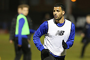 Jacob Mellis of Bury warming up before the Sky Bet League 1 match between Bury and Barnsley at The JD Stadium, Bury, England on 23 February 2016. Photo by Simon Brady.