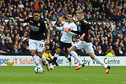 Bolton forward Kaiyne Woolery on the ball during the Sky Bet Championship match between Derby County and Bolton Wanderers at the iPro Stadium, Derby, England on 9 April 2016. Photo by Aaron  Lupton.