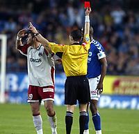 Fotball<br /> Frankrike 2003/04<br /> Strasbourg v Paris St. Germain<br /> 1. mai 2004<br /> Foto: Digitalsport<br /> NORWAY ONLY<br /> <br /> RED CARD LORIK CANA (PSG)