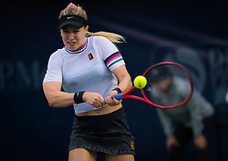 February 19, 2019 - Dubai, ARAB EMIRATES - Eugenie Bouchard of Canada in action during her second-round match at the 2019 Dubai Duty Free Tennis Championships WTA Premier 5 tennis tournament (Credit Image: © AFP7 via ZUMA Wire)