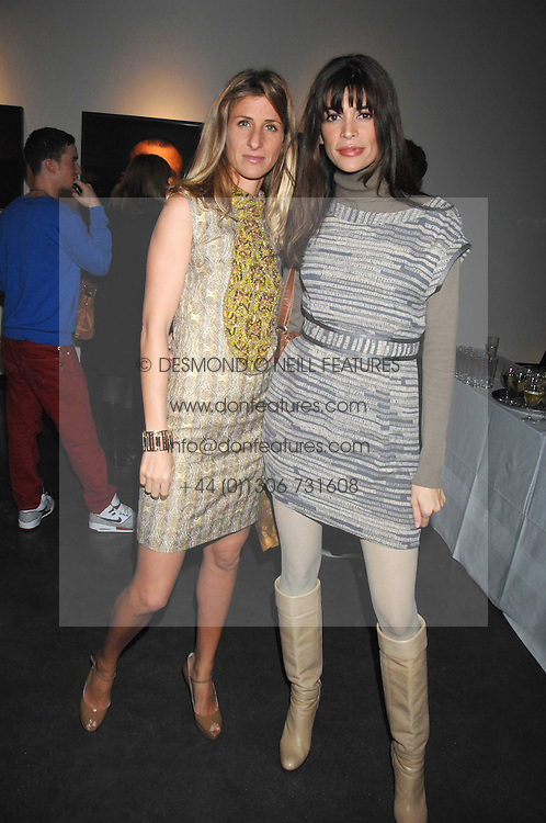 Left to right, ELAINE FATTAL and LISA BILTON at a private view of Octagan a showcase of work of photographer Kevin Lynch featuring the stars of the Ultimate Fighter Championship held at Hamiltons gallery, Mayfair, London on 17th January 2008.<br />