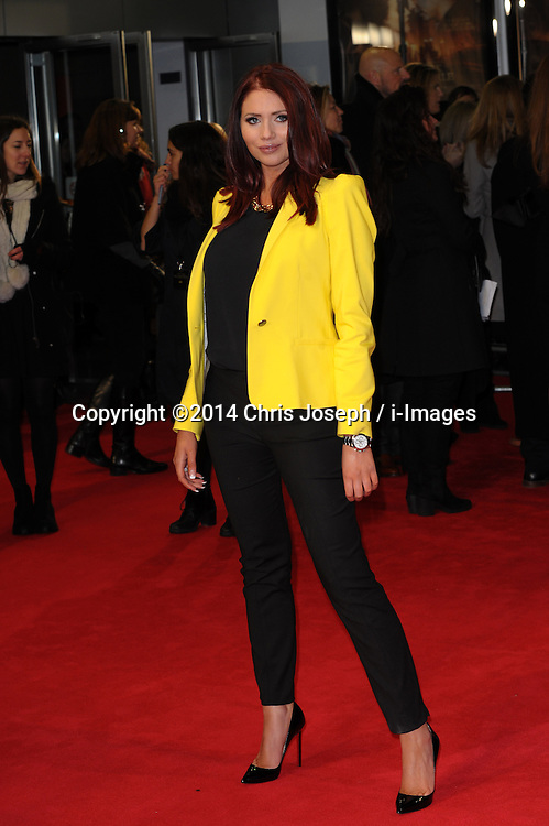 Amy Childs  attends  the UK premiere of 'A New York Winter's Tale' at The Odeon Kensington, London, United Kingdom. Thursday, 13th February 2014. Picture by Chris Joseph / i-Images