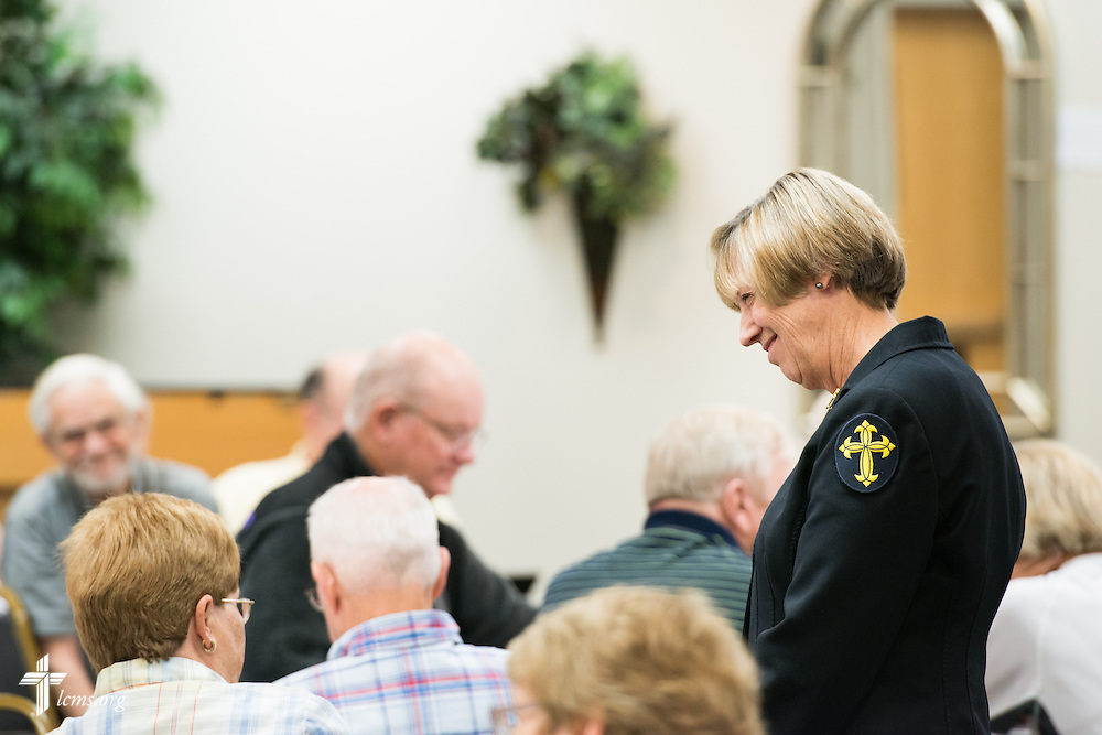 Deaconess Dorothy Krans, director of LCMS Recognized Service Organizations, leads a session at The 72 Witness & Outreach Team Training on Thursday, Sept. 11, 2014, at the National Shrine of Our Lady of the Snows in Belleville, Ill. LCMS Communications/Erik M. Lunsford