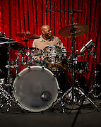Tyrone Hendrix on the drums at Jimmy Maks