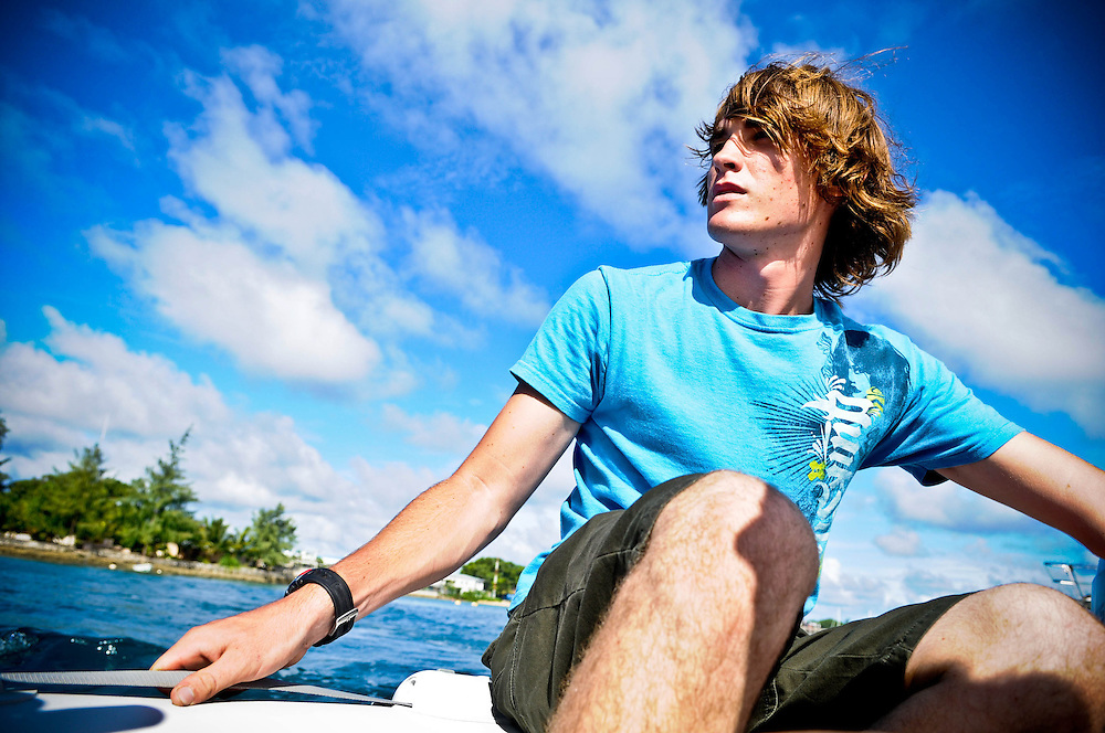 16 year old Zac Sunderland heads out to do some maintenance on his boat while in Majuro, Marshall Islands, Monday, Aug. 4, 2008. Majuro is Zac's first major stop on his journey to be the youngest person to circumnavigate the world solo.