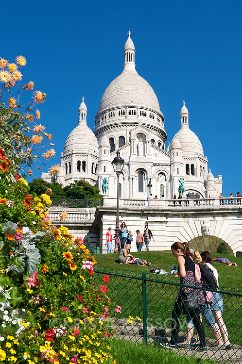 The Basilica of the Sacred Heart in Montmartre.