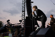 The Hives perform during the San Diego Street Scene festival in downtown San Diego on September 20, 2008.