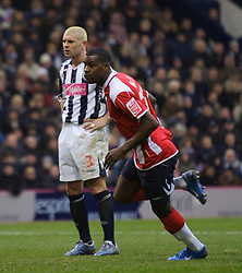 WEST BROMWICH, ENGLAND - Saturday, December 15, 2007: Charlton's Izale McLeod celebrates scoring the equaliser against West Bromwich Albion during the League Championship match at the Hawthorns. (Photo by David Rawcliffe/Propaganda)