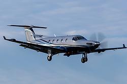 Pilatus Aircraft Ltd PC-12/45 (N650MC) on approach to Palo Alto Airport (KPAO), Palo Alto, California, United States of America