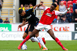 Semi Ajayi of Rotherham United tussles with Adam Clayton of Middlesbrough for possession - Mandatory by-line: Ryan Crockett/JMP - 05/05/2019 - FOOTBALL - Aesseal New York Stadium - Rotherham, England - Rotherham United v Middlesbrough - Sky Bet Championship
