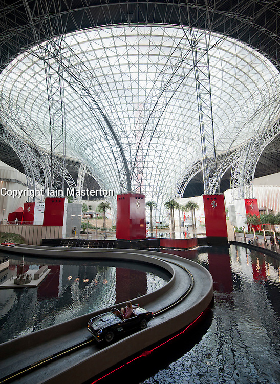 Ferrari World theme park in Abu Dhabi UAE United Arab Emirates