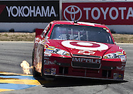 SONOMA, CA - June 20, 2010:  Juan Pablo Montoya races off the turn for the Toyota/Save Mart 350 race at Infineon Raceway in Sonoma, CA.