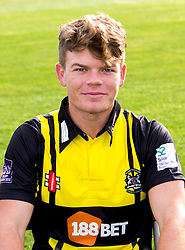 Brandon Gilmour of Gloucestershire Cricket poses for a headshot in the Royal London One Day Cup kit - Mandatory by-line: Robbie Stephenson/JMP - 04/04/2016 - CRICKET - Bristol County Ground - Bristol, United Kingdom - Gloucestershire  - Gloucestershire Media Day