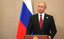 September 5, 2017 - Xiamen, China - September 5, 2017. - China, Xiamen. - Russian President Vladimir Putin at a news conference on the results of the BRICS summit. (Credit Image: © Russian Look via ZUMA Wire)