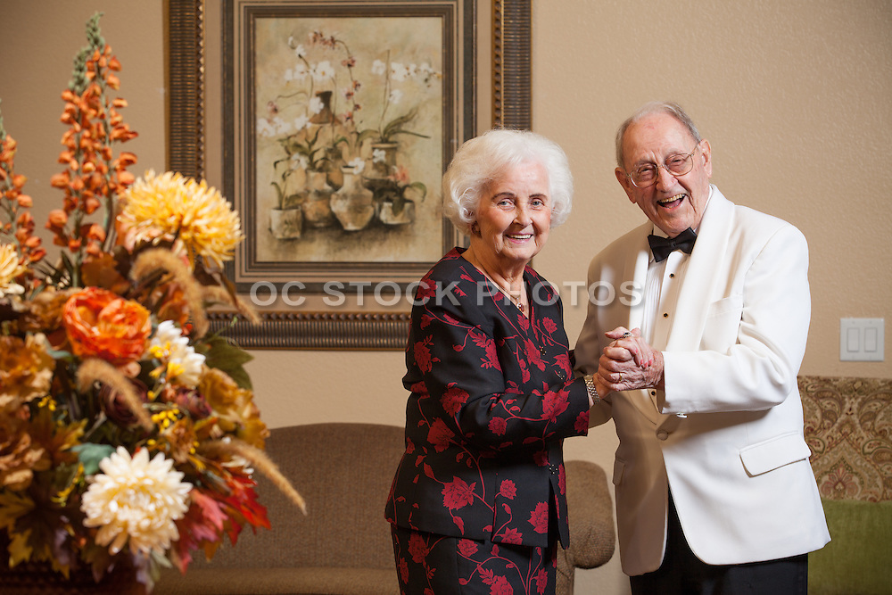 Senior Couple Dressed Up and Dancing