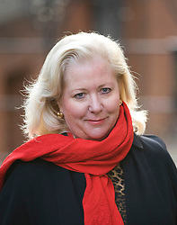 © London News Pictures. 23/11/2011. London, UK.  Former business adviser of supermodel Elle Macpherson, MARY-ELLEN FIELD arriving at The Royal Courts of Justice today (23/11/2011) for the Leveson Inquiry into press standards. The inquiry is being lead by Lord Justice Leveson and is looking into the culture, and practice of the UK press. Photo credit : Ben Cawthra/LNP