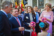 Queen Rania, King Abdullah & Belgian Royals Visit Bruges