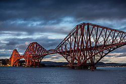 Forth Rail Bridge, photographed today.