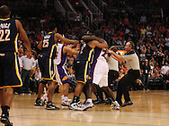Mar. 6 2010; Phoenix, AZ, USA;  Indiana Pacers guard Earl Watson (2) and Phoenix Suns guard Jason Richardson (23) fight in the second half at the US Airways Center.  Mandatory Credit: Jennifer Stewart-US PRESSWIRE