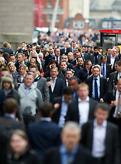 London Commuters get ready for the Olympics