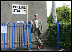 MAY 22 2014 Nigel Farage voting in European elections