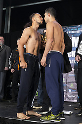 January 25, 2019 - New York, New York, United States - Keith Thurman and Josesito Lopez attend official weigh-in for WBA World Welterweight Championship at Barclays Center (Credit Image: © Lev Radin/Pacific Press via ZUMA Wire)