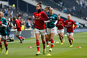 Jennifer Beattie warms up before the FA Women's Super League match between Tottenham Hotspur Women and Arsenal Women FC at Tottenham Hotspur Stadium, London, United Kingdom on 17 November 2019.