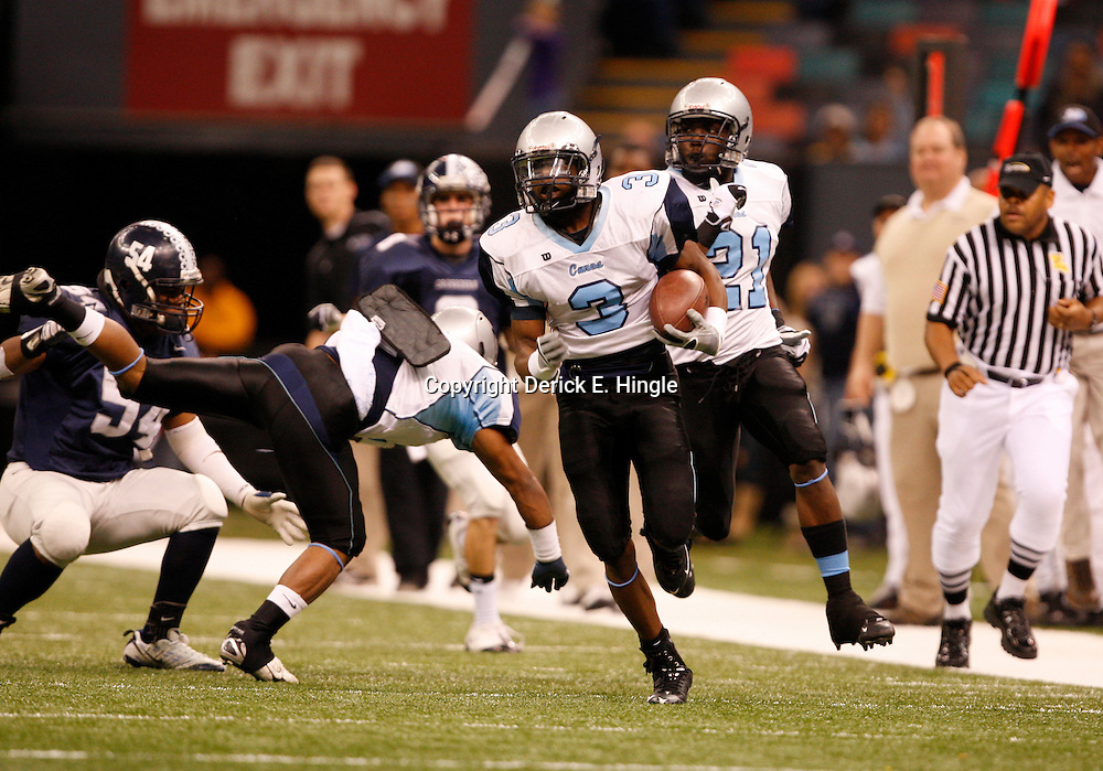2008 December 13: During the Class 1A LHSAA State Championship game, between the South Plaquemines Hurricanes and Christian Life Academy at the Louisiana Superdome in New Orleans, LA (photo by Derick Hingle/Nola.com)