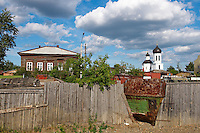 Russie, Federation de Tomsk, Tomsk, architecture de bois du 19e siecle. // Russia, Tomsk Federation, Tomsk, wooden architecture from 19 century.