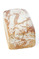 Bread on white backgorund - close-up