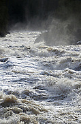 The Yaak River roars through Yaak Falls after record setting December rains increased the river volume 2100% over average on December 9, 2015.