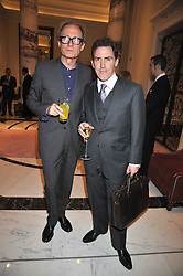 Left to right, BILL NIGHY and ROB BRYDON at a party to celebrate the relaunch of the Langham Hotel, Portland Place, London on June 10th 2009.