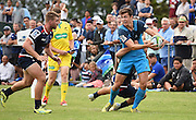 Matt Duffie during a pre season Super Rugby match. Blues v Storm, Pakuranga Rugby Club, Auckland, New Zealand. Thursday 4 February 2016. Copyright Photo: Andrew Cornaga / www.Photosport.nz