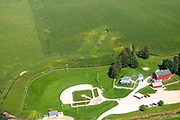 The Field of Dreams ball field near Dyersville, Iowa, USA, in anticipation of a major league baseball game in August 13, 2020 between the Chicago White Sox and the New York Yankees.