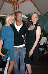 Left to right, KIMBERLEY STEWART, CALUM BEST and AMY SACCO at a party to celebrate the launch of her book 'Cocktails' held at Sanderson, 50 Berners Street, London W1 on 10th July 2006.<br /><br />NON EXCLUSIVE - WORLD RIGHTS