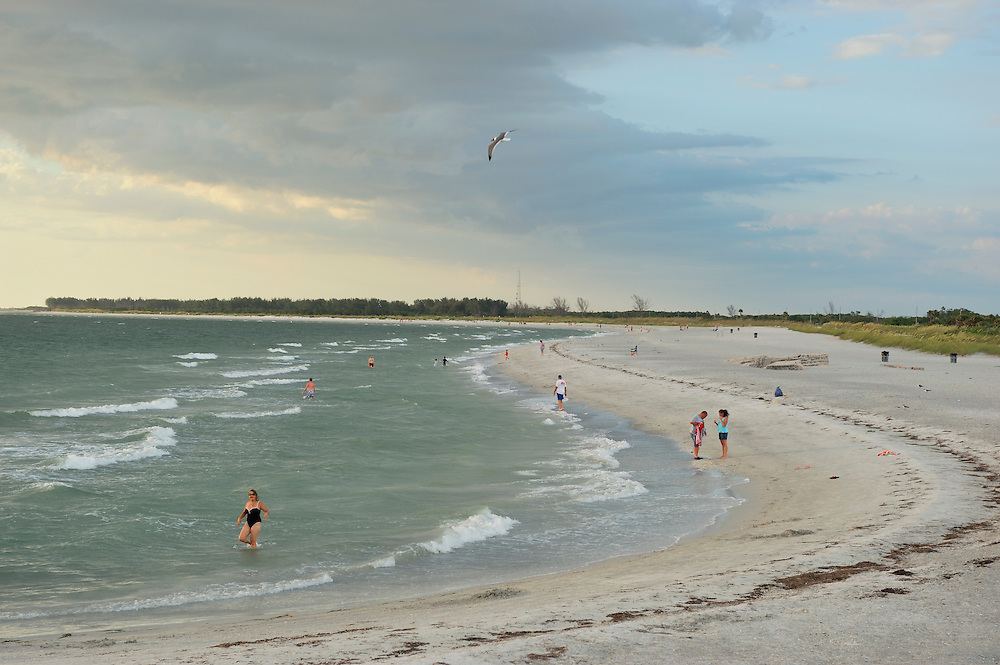 People on Beach at Fort de Soto State Park, St. Petersburg, Florida, USA