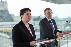 At First Minister&rsquo;s Questions, Scottish Conservative leader Ruth Davidson said the party would reject the proposals set out by the SNP on Monday.<br /> <br /> Scottish Conservative leader Ruth Davidson was joined by Scotland Minister David Mundell in Edinburgh. She said, <br /> <br /> &ldquo;The Scottish Conservatives reject the proposals set out by the First Minister on Monday.<br /> <br /> &ldquo;A referendum cannot happen when the people of Scotland have not been given the opportunity to see how our new relationship with the European Union is working.<br /> <br /> &ldquo;And it should not take place when there is no clear political or public consent for it to happen.<br /> <br /> &ldquo;Our country does not want to go back to the divisions and uncertainty of the last few years.<br /> <br /> &ldquo;Another referendum campaign will not solve the challenges this country will face.<br /> <br /> &ldquo;We don&rsquo;t want it. We don&rsquo;t need it.&rdquo;<br /> <br /> <br /> Pictured: David Mundell, Ruth Davidson