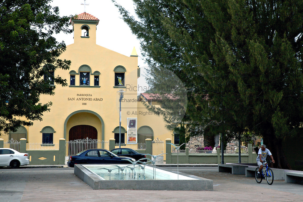 Town square in Guanica, on the Southwest coast of Puerto Rico.  Guanica is the town where US Forces entered Puerto Rico in 1896 during the Spanish-American War.