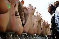 details of hands in ruisrock festival 2014