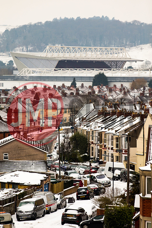 General View of Ashton Gate Stadium amongst the snow covered streets city ahead of Saturday's Bristol City game against Sheffield Wednesday - Rogan/JMP - 02/03/2018 - Ashton Gate Stadium - Bristol, England - Bristol City v Sheffield Wednesday - Sky Bet Championship.