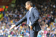 Watford Head coach and Manager Slavisa Jokanovic gives orders during the Sky Bet Championship match between Watford and Sheffield Wednesday at Vicarage Road, Watford, England on 2 May 2015. Photo by Phil Duncan.