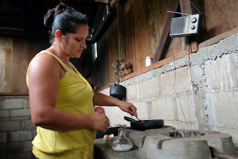 Community El Tigre, Yalí, Jinotega - Nicaragua 10-2014<br /> Photography by Aaron Sosa<br /> <br /> Cooperative El Polo Project<br /> Farm Las Quebraditas<br /> Mr. Francisco Blandon Cruz<br /> <br /> In this farm is one of the Biodigestores, harvest time when the first coffee bean washing water is taken as the ferment produces gas that is needed for use in the kitchen. The gas can be obtained by fermentation of animal manure.<br /> <br /> In this series of images Mr. Francisco Blandon shows us how to feed the biodigester with animal manure.